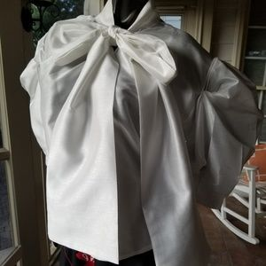 TOV Los Angeles Brand White Blouse with Ties